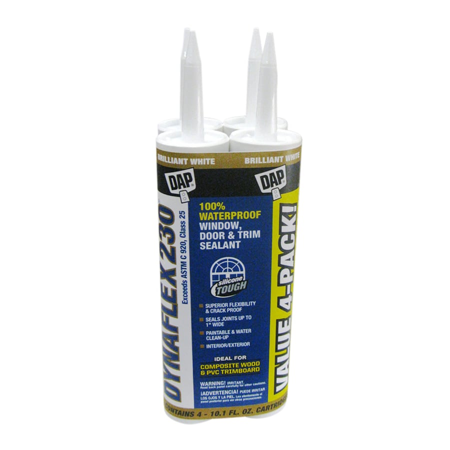 DAP DYNAFLEX 230 4-Pack 10.1-oz White  Paintable Latex Caulk