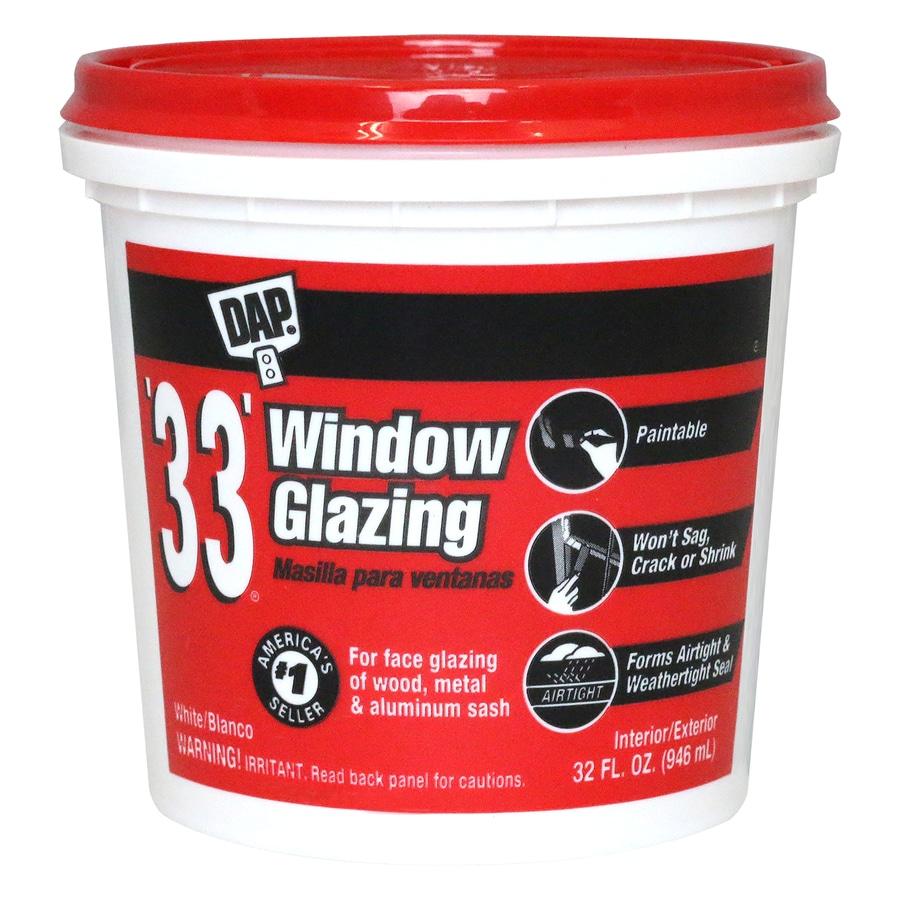 DAP 128-oz Off White Window Glazing Compound