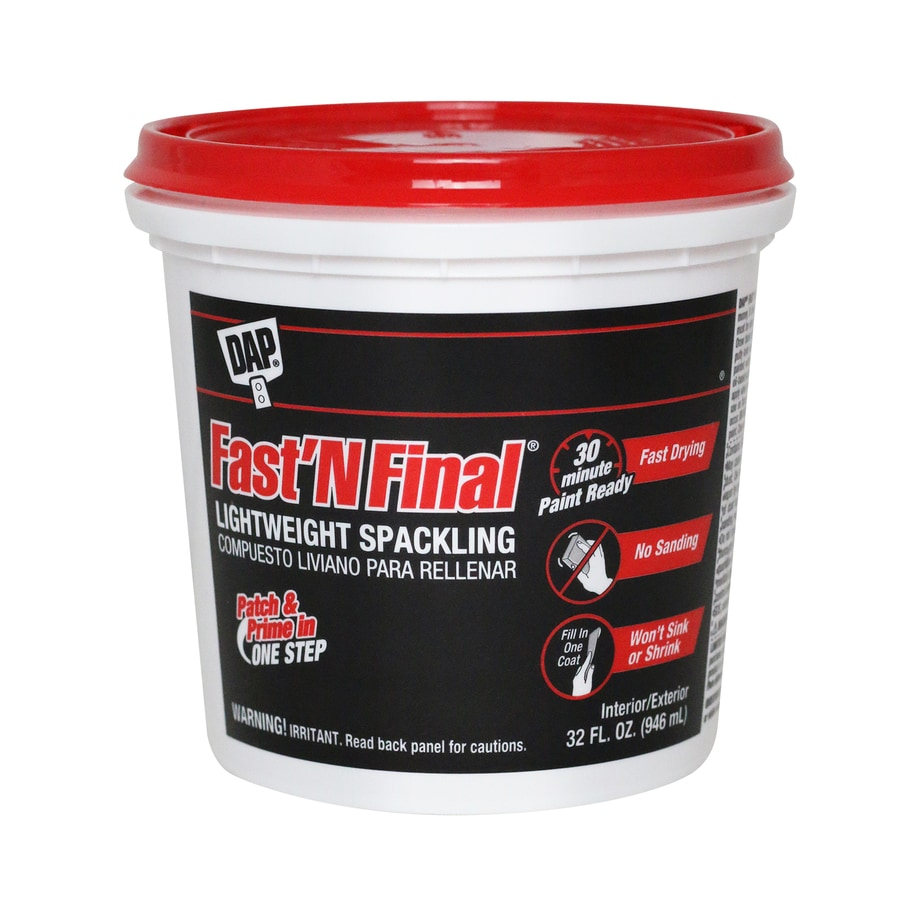 Shop dap 32 oz white spackling at for Bathroom joint compound