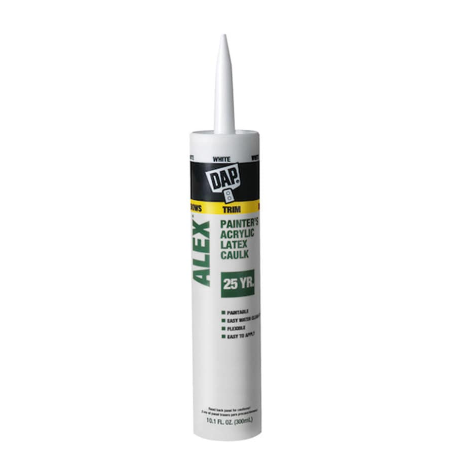 DAP 10.1-oz White Paintable Latex Window and Door Caulk