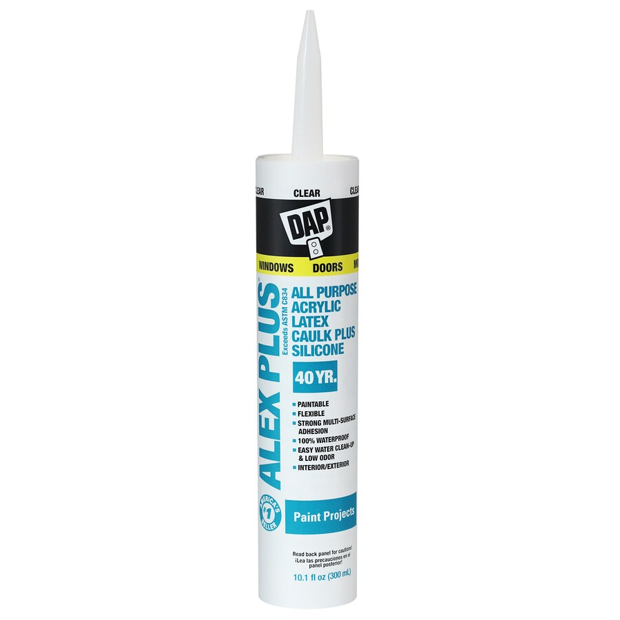 DAP ALEX PLUS 10.1-oz Clear Paintable Latex Window and Door Caulk