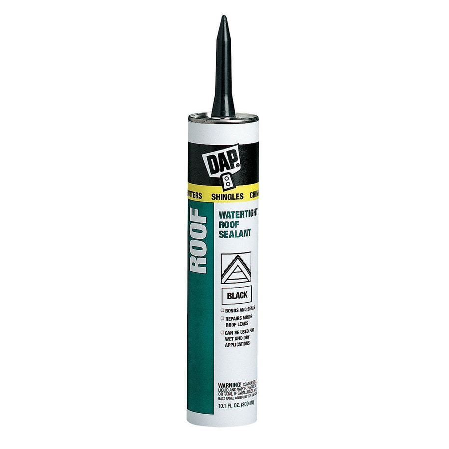 DAP Roof Sealant 10.1-oz Black Paintable Solvent-Based Specialty Caulk