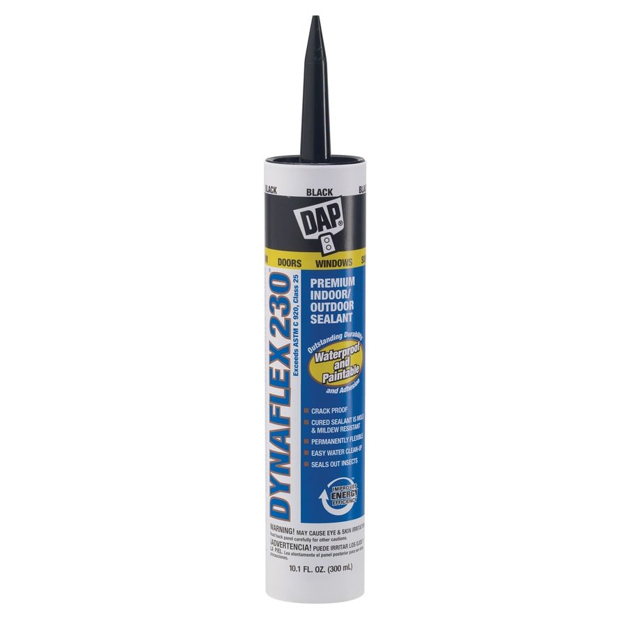 DAP DYNAFLEX 230 10.1-oz Black Paintable Latex Window and Door Caulk