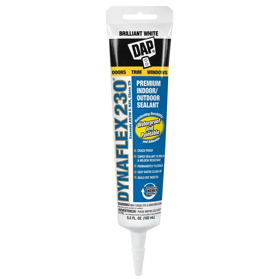 DAP DYNAFLEX 230 5.5-oz White Paintable Latex Window and Door Caulk