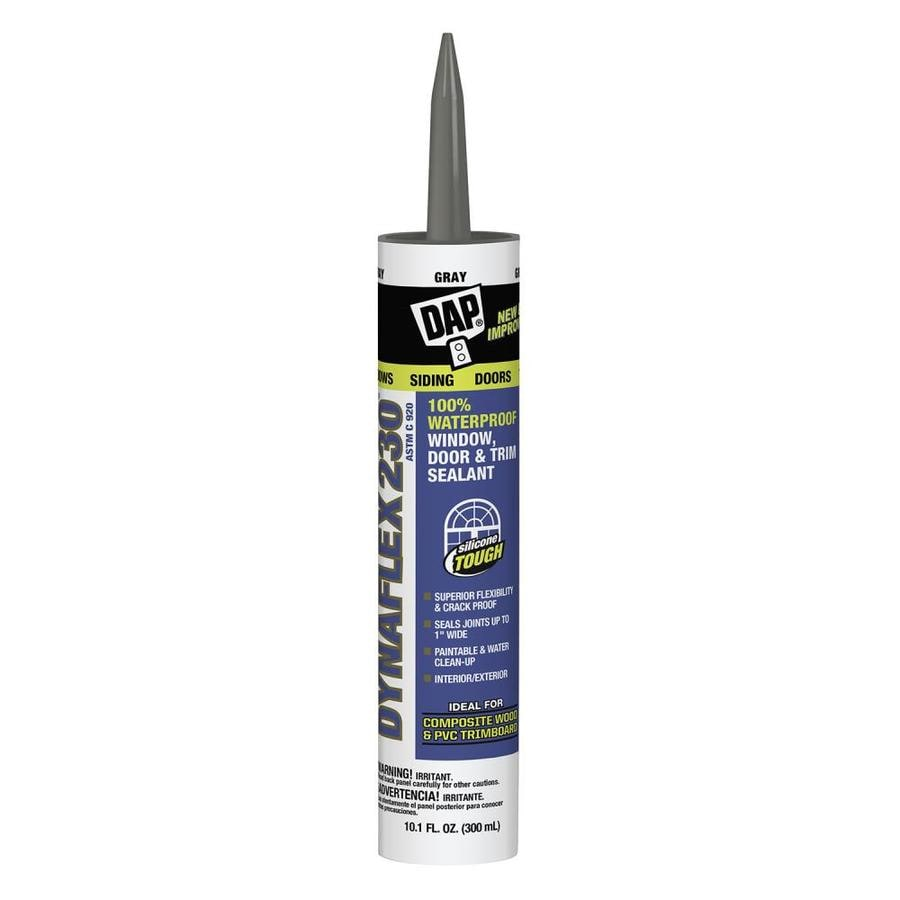 Dap dynaflex 230 10 1 oz gray paintable latex caulk at - Wood filler or caulk for exterior trim ...