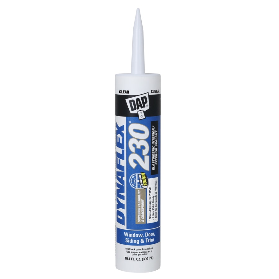 DAP DYNAFLEX 230 10.1-oz Clear Paintable Latex Window and Door Caulk