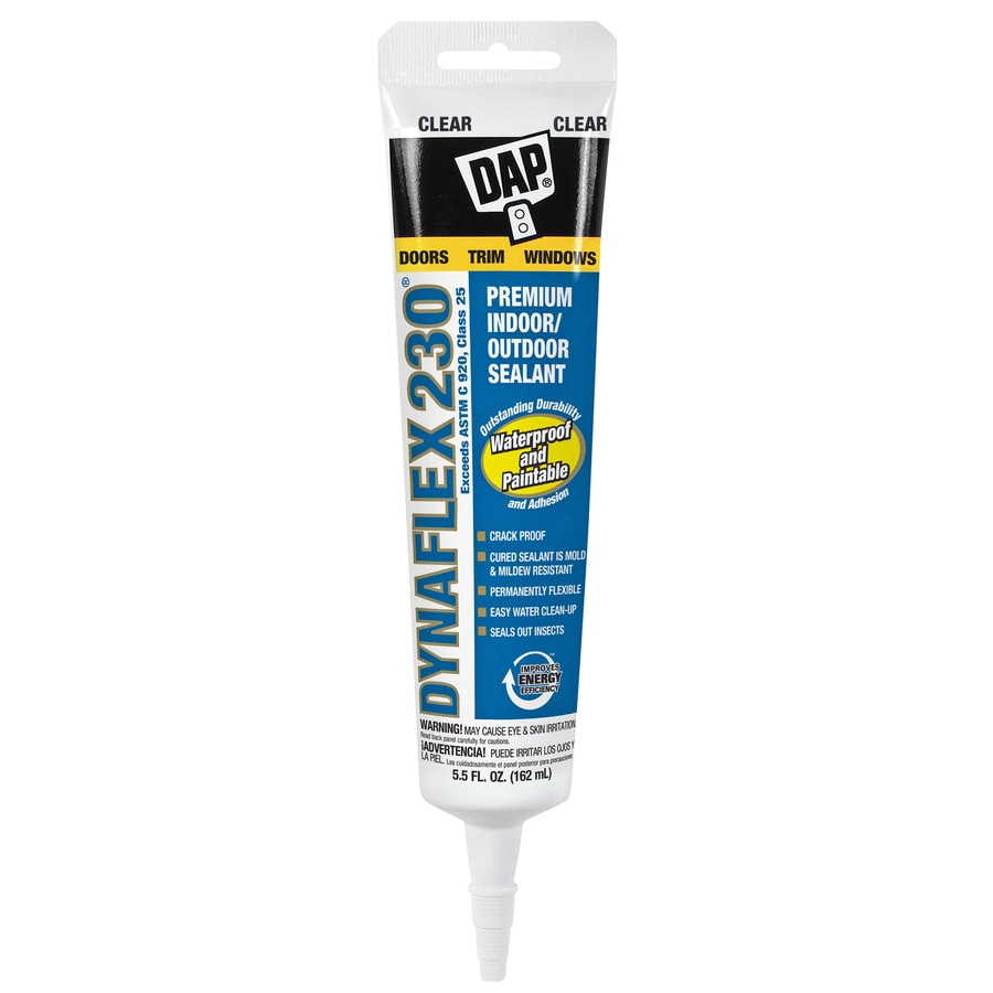 DAP Dynaflex 230 5.5-oz Clear Paintable Latex Caulk