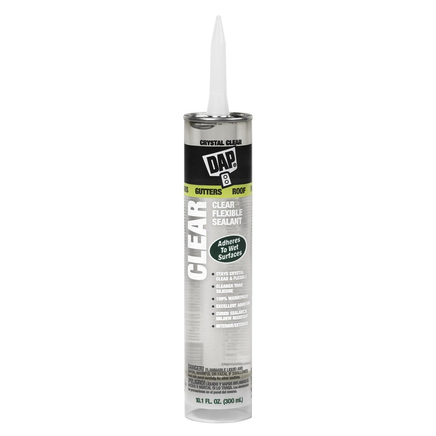 DAP Flexible 10.1-oz Clear Paintable Advanced Sealant Caulk