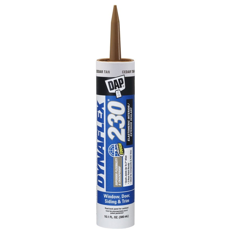 DAP Dynaflex 230 10.1-oz Cedar Tan Paintable Latex Caulk