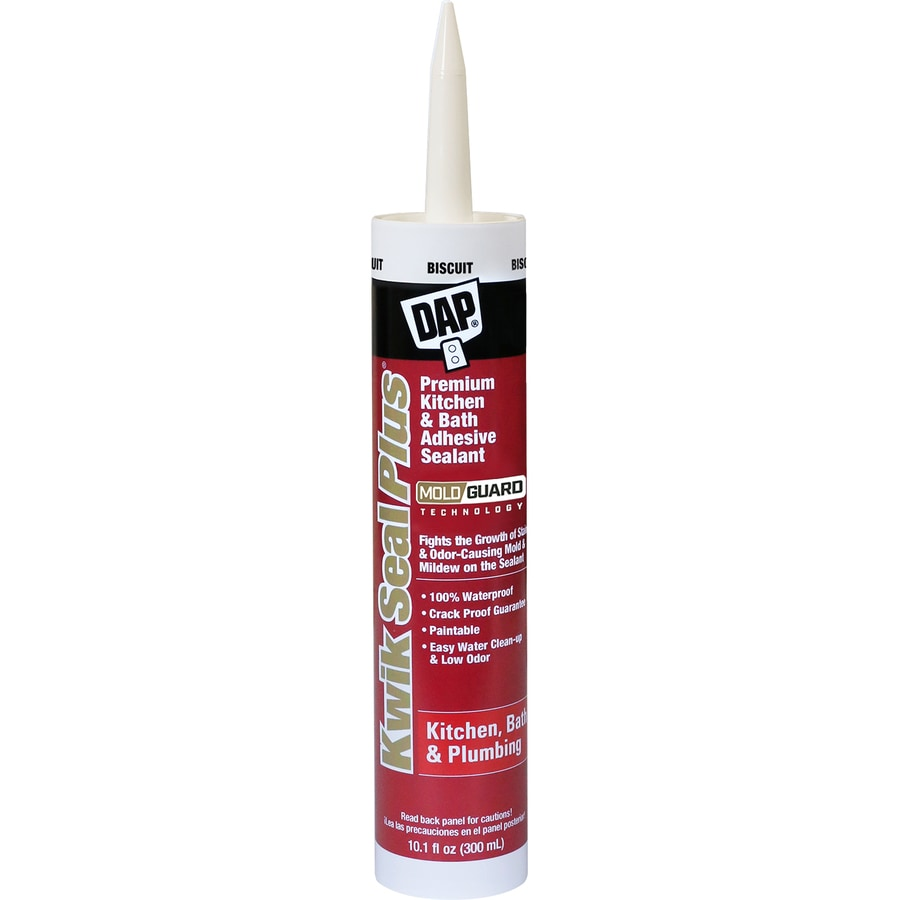 DAP 10.1-oz Biscuit Paintable Tub and Tile Latex Kitchen and Bathroom Caulk