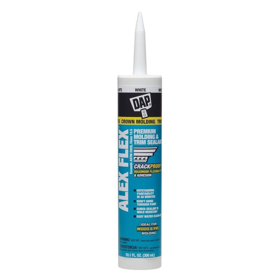 DAP Alex Flex 10.1-oz White Paintable Latex Caulk