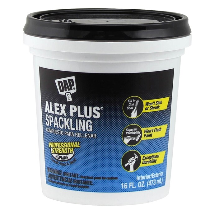 Dap Alex Plus 16 Fl Oz White Spackling In The Patching Spackling Compound Department At Lowes Com