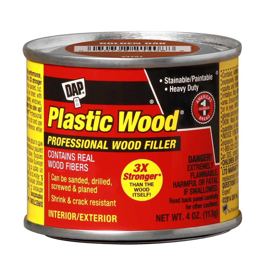 Shop dap plastic 4 oz wood filler at for Exterior wood filler paintable