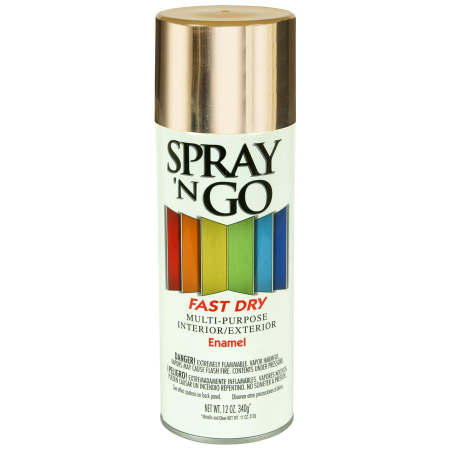 Shop Rust Oleum Spray N Go Gold Metallic Enamel Spray Paint Actual Net Contents 12 Oz At