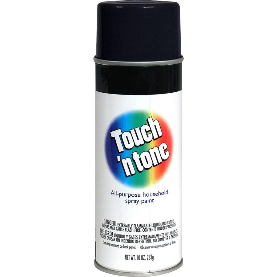 Shop rust oleum touch n tone black enamel spray paint actual net contents 10 oz at Black spray paint