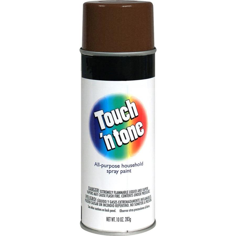 Rust-Oleum Touch N Tone Leather Brown Fade Resistant Enamel Spray Paint (Actual Net Contents: 10-oz)