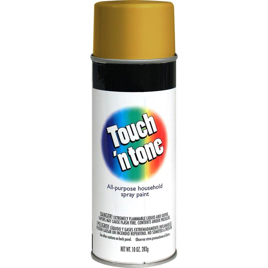 Shop Rust Oleum Touch N Tone Gold Enamel Spray Paint Actual Net Contents 10 Oz At
