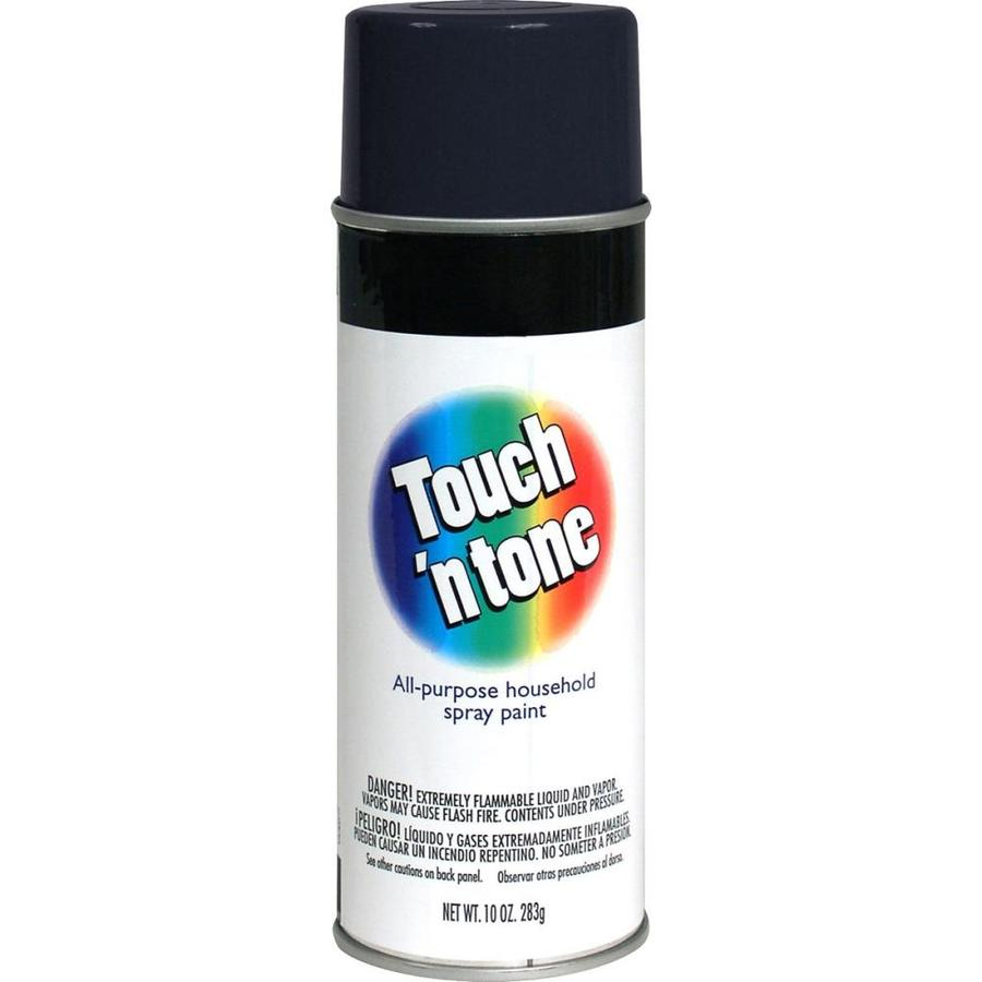 Rust-Oleum Touch N Tone Black Enamel Spray Paint (Actual Net Contents: 10-oz)