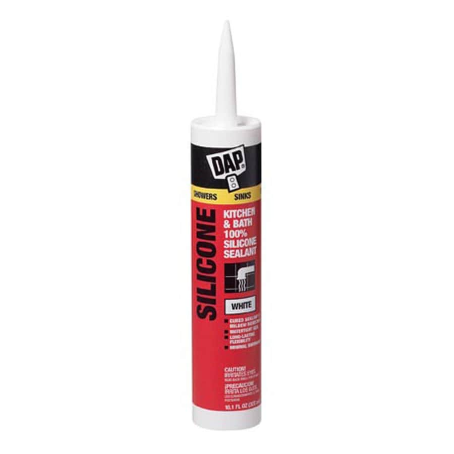 DAP 10.1-oz White Silicone Kitchen and Bathroom Caulk