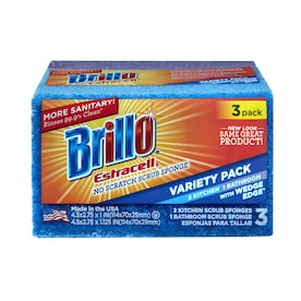 Brillo Estracell Estracell 3-Pack Polyurethane Sponge with Scouring Pad