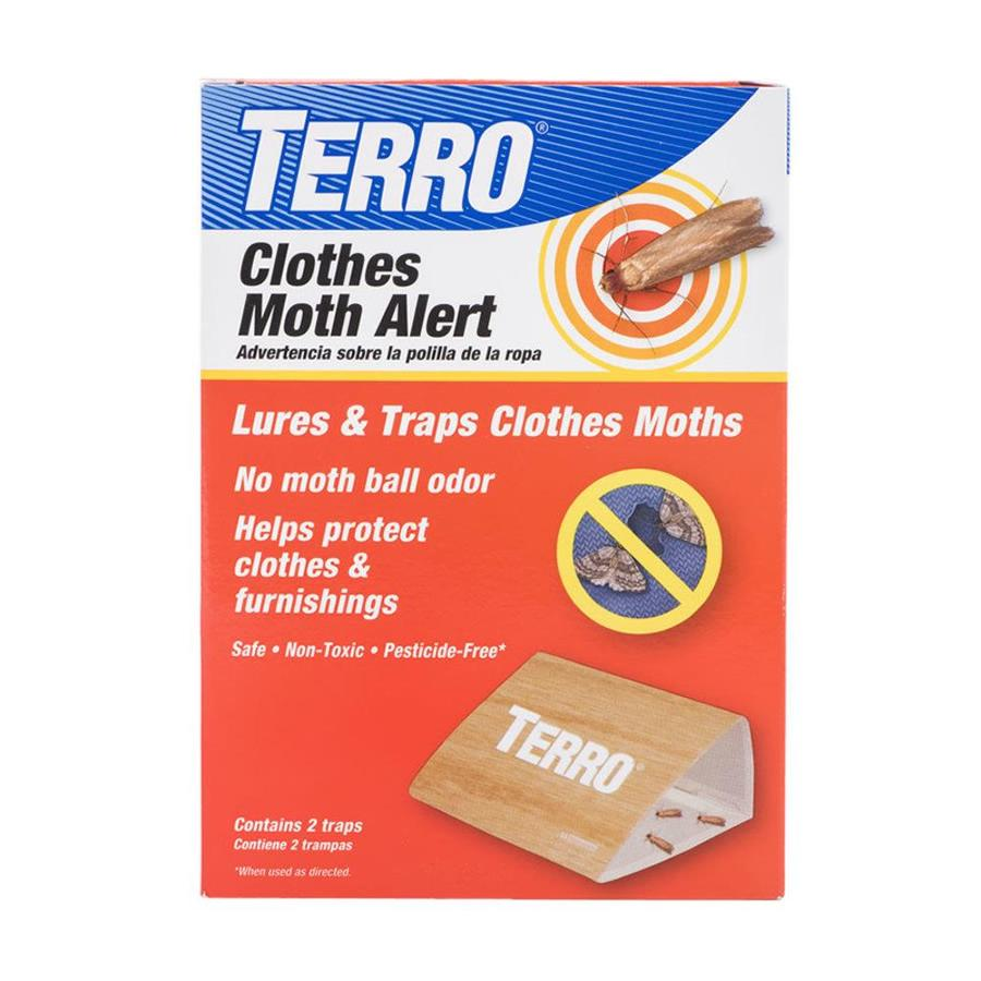 TERRO Clothes Moth Alert 2-Count Disposable Moth Traps