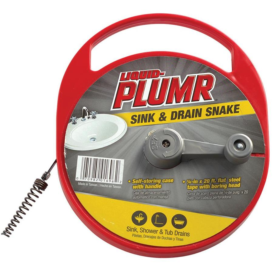 Shop Liquid Plumr 1 4 In X 20 Ft Flat Rod Drain Auger At