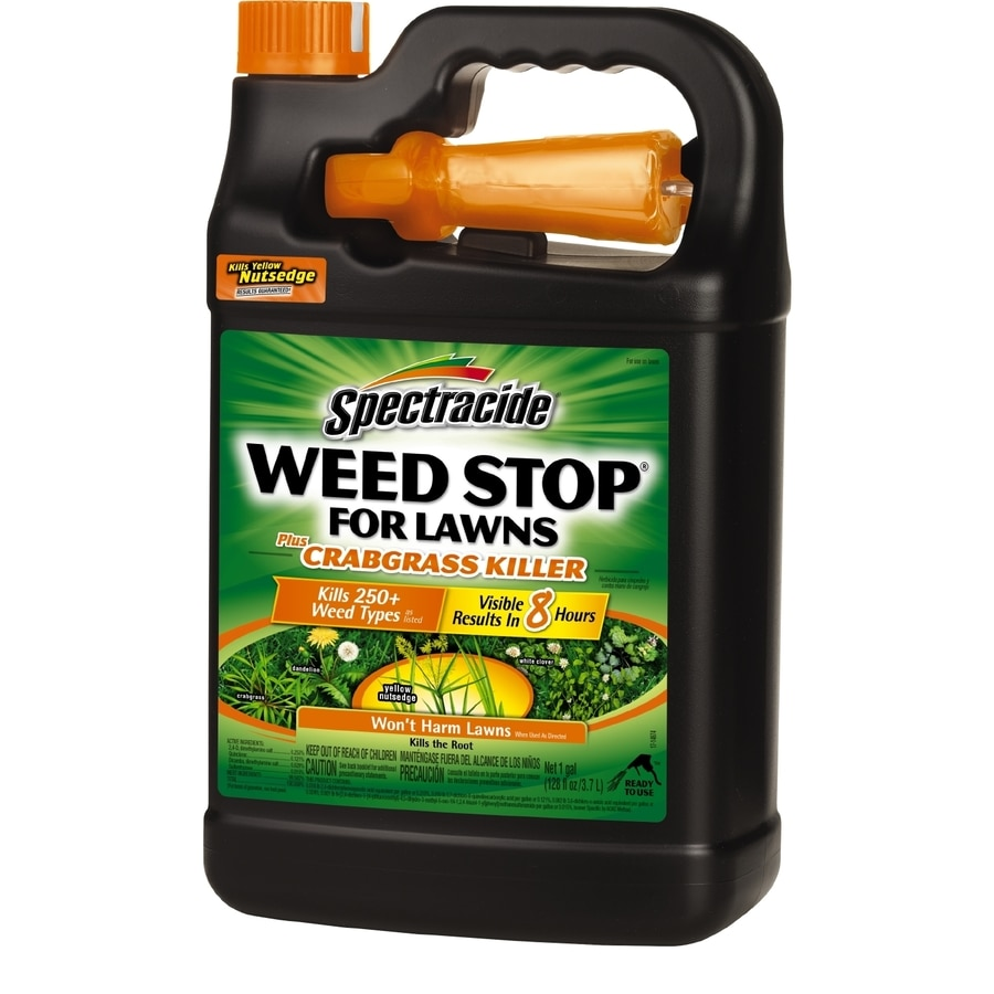 Spectracide Weed Stop for Lawns 1-Gallon Weed Killer Plus Crabgrass Control