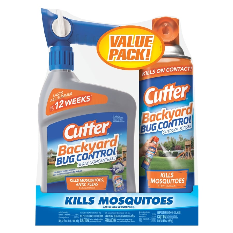 Cutter Backyard Bug Control Combo Pack- Ready-To-Spray Concentrate and Fogger