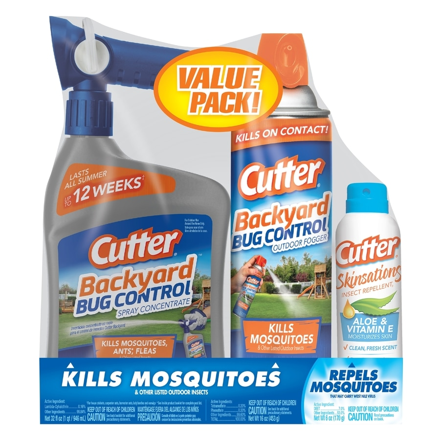 Cutter 3 Pack Backyard Mosquito And Bug Control Combo