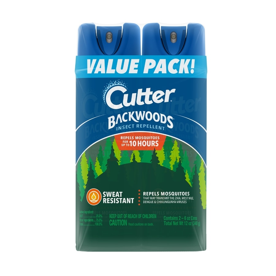 Cutter Backwoods Dry Mosquito 2-Count 6-oz Insect Repellent