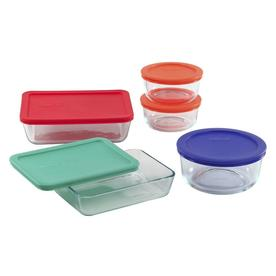 PYREX 5-Piece Tempered Glass Food Storage Container