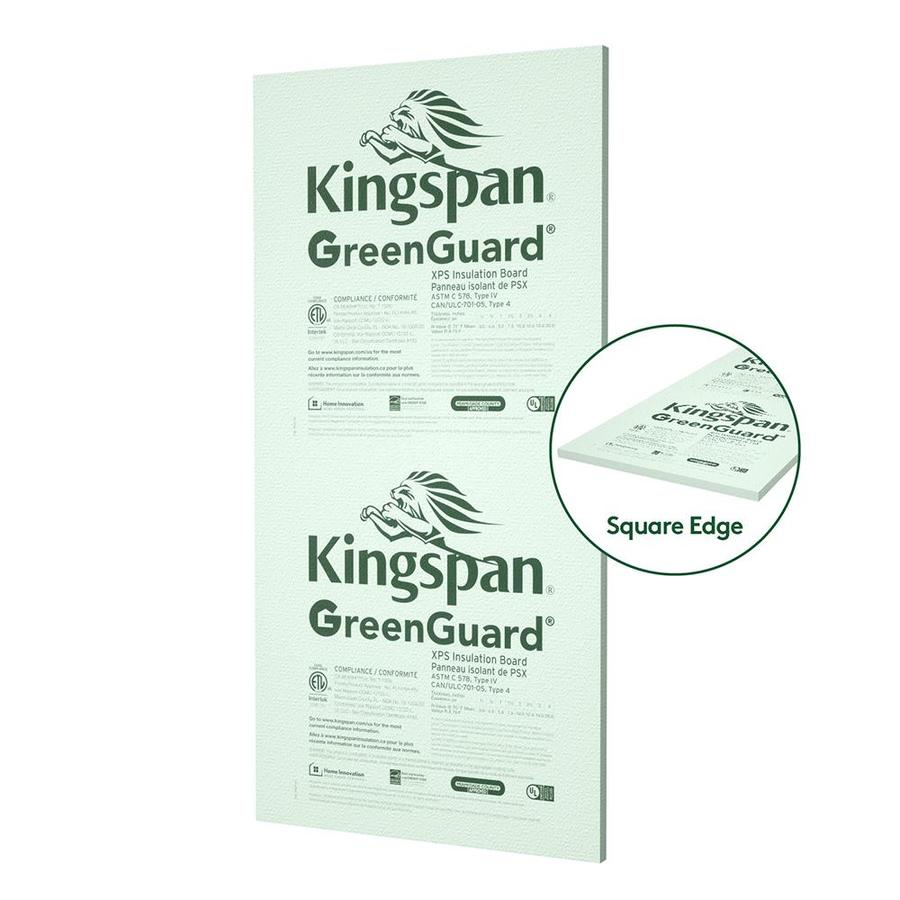 Kingspan Insulation (Common: 1-in x 4-ft x 8-ft; Actual: 1-in x 4-ft x 8 Feet) R 5 Unfaced Polystyrene Foam Board Insulation