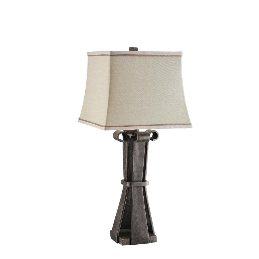 29-in 3-Way Rust Indoor Table Lamp with Fabric Shade