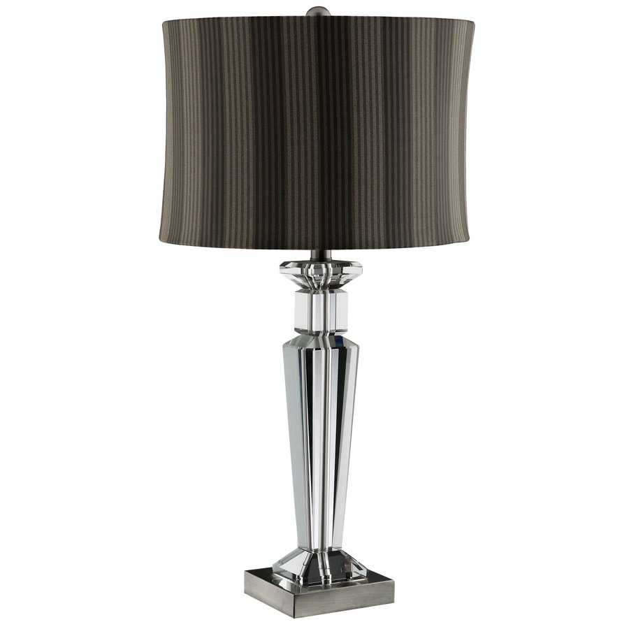 29-in Antique Nickel Touch Indoor Table Lamp with Fabric Shade