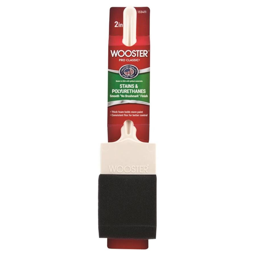 Wooster Foam Varnish Paint Brush (Common: 2-in; Actual: 2-in)