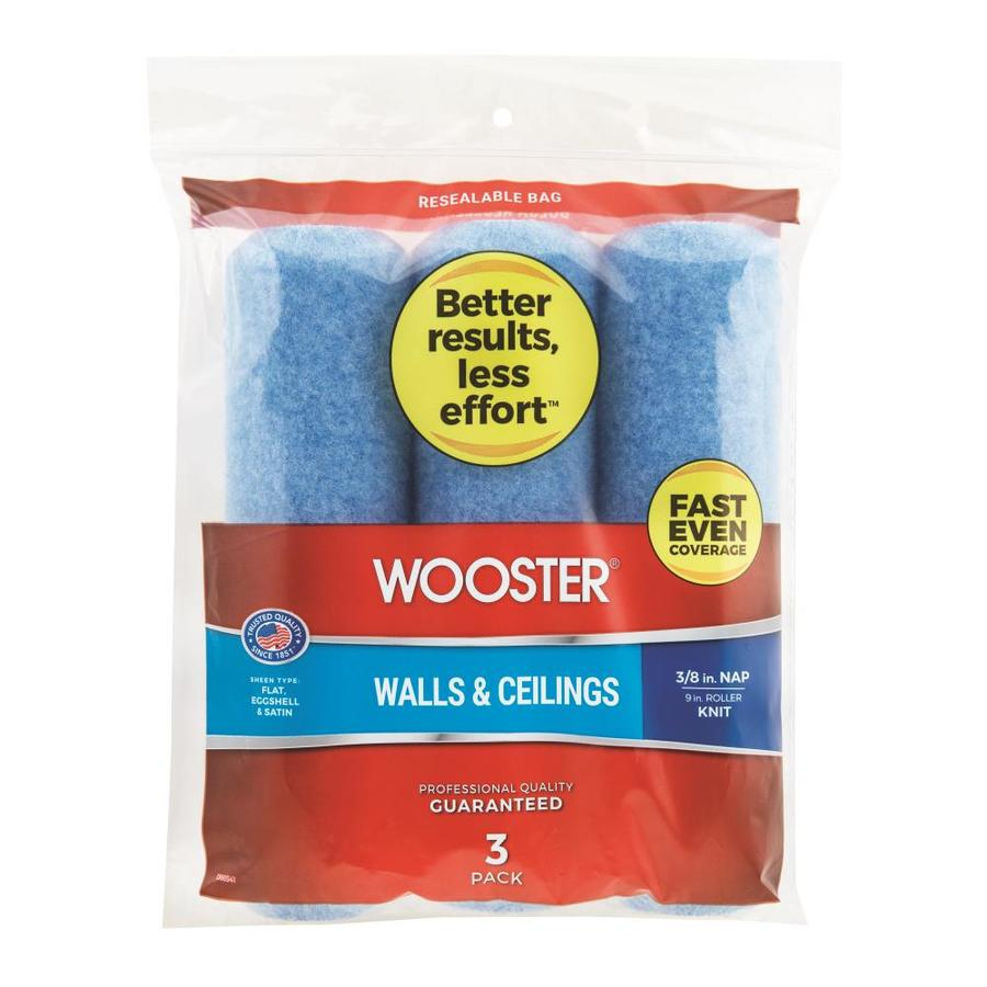 Wooster 3-Pack 9-in Synthetic Blend Paint Roller Covers