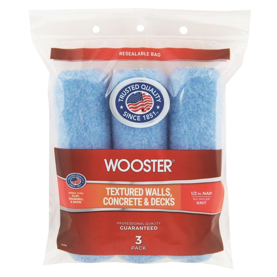 Wooster 3-Pack Synthetic Blend Regular Paint Roller Covers (Common: 9-in; Actual: 9-in)