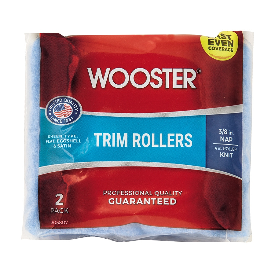 Wooster 2-Pack 4-in Trim Synthetic Blend Paint Roller Cover