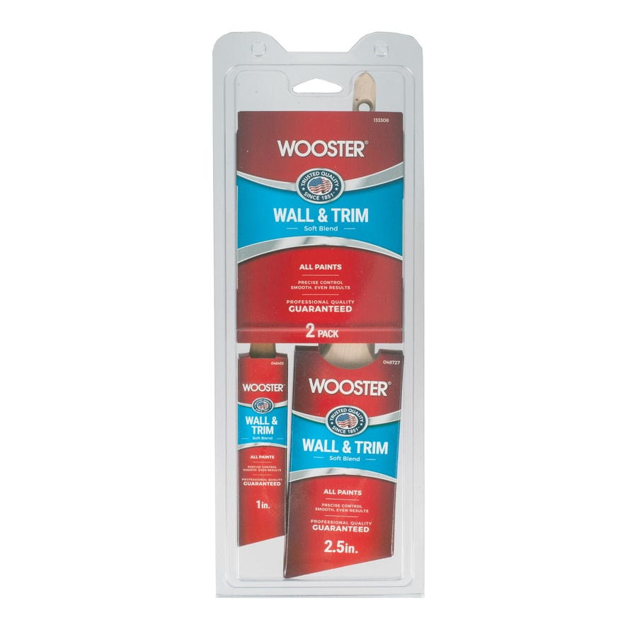 Wooster 2-Pack Polyester - Nylon Blend Angle Sash Paint Brush Variety Pack (Common: 6-in; Actual: 6-in)