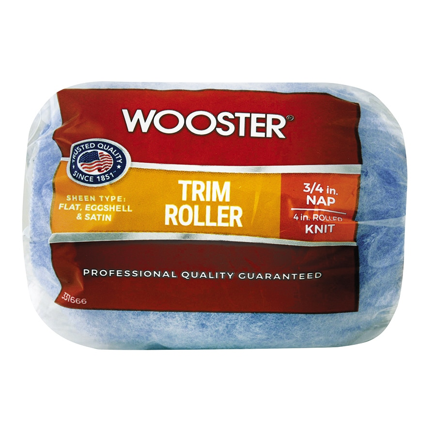 Wooster 4-in Trim Synthetic Blend Paint Roller Cover