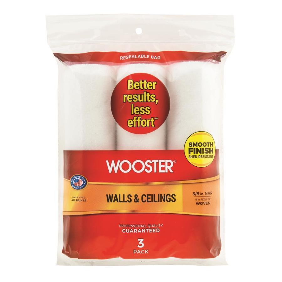 Shop Wooster 3 Pack 9 In Synthetic Blend Paint Roller
