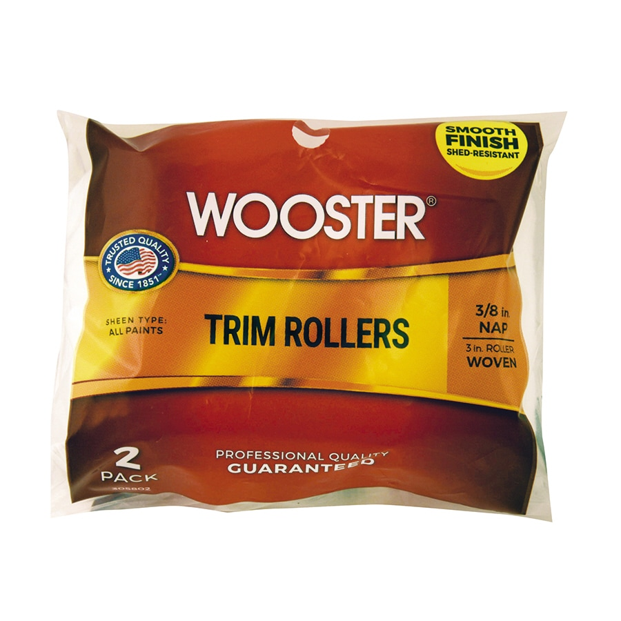 Wooster 2-Pack 3-in Trim Synthetic Blend Paint Roller Covers