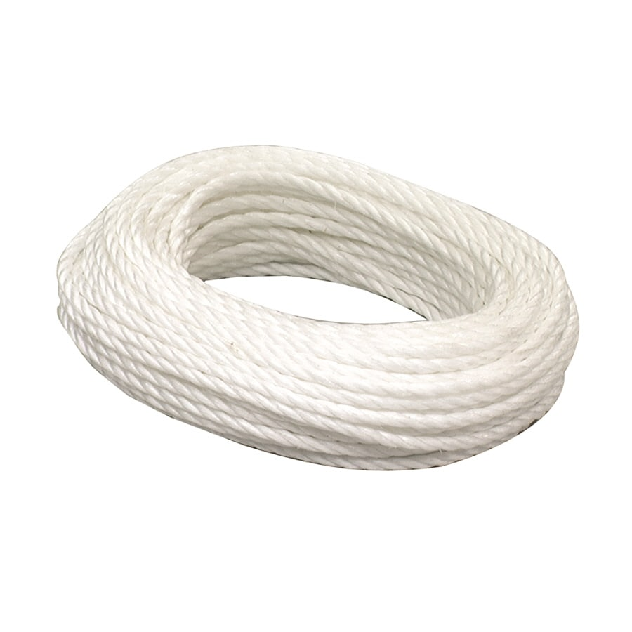Lehigh 3/8-in x 50-ft White Twisted Polypropylene Rope