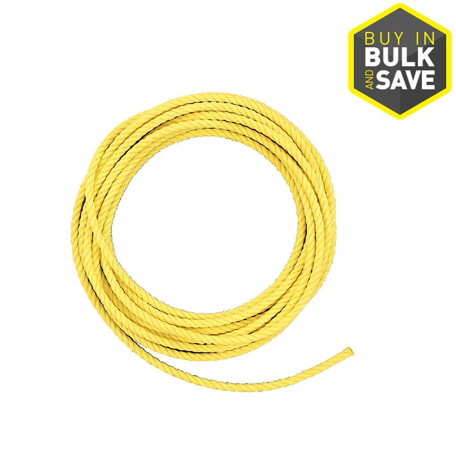 Lehigh 1/4-in Twisted Polypropylene Rope (By-The-Foot)