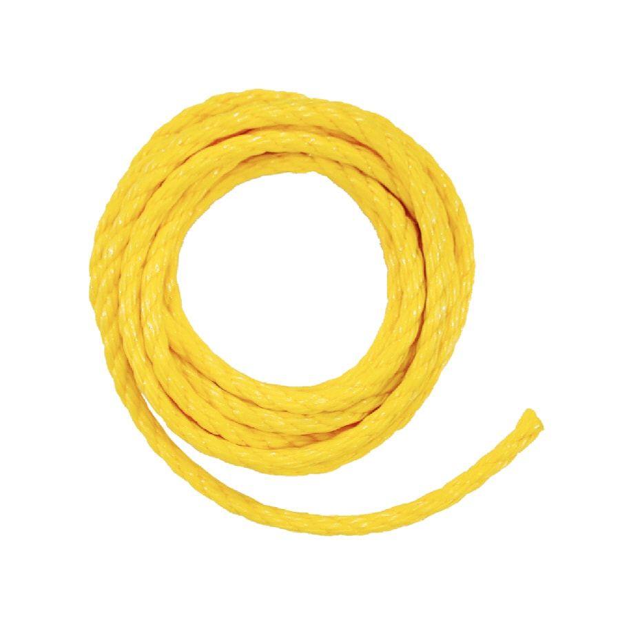 Lehigh 1/4-in x 100-ft Yellow Braided Polypropylene Rope