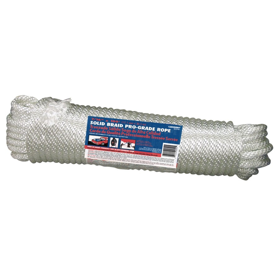 Lehigh 7/16-in x 100-ft Braided Nylon Rope (By-The-Roll)