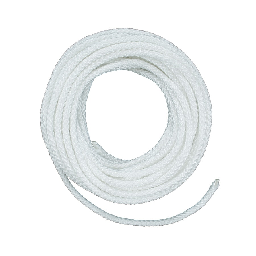 Lehigh 1/4-in x 50-ft White Braided Nylon Rope