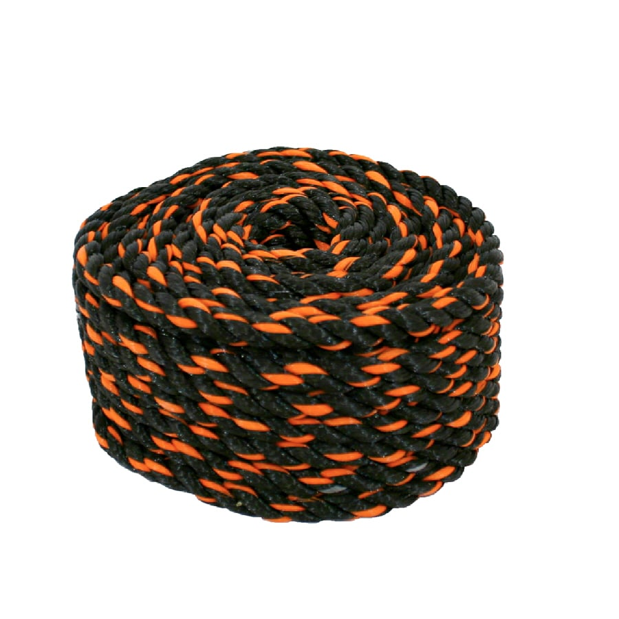 Lehigh 3/8-in x 50-ft Black Twisted Polypropylene Rope