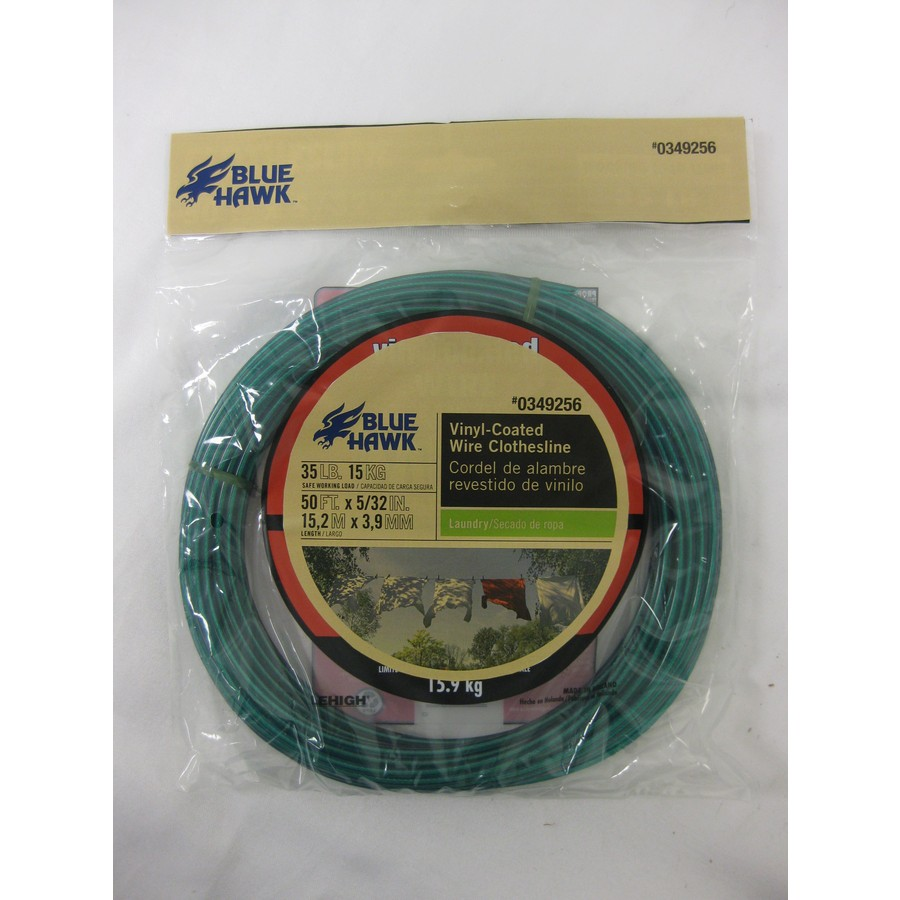 Blue Hawk 5/32-in x 50-ft Vinyl Coated Clothesline