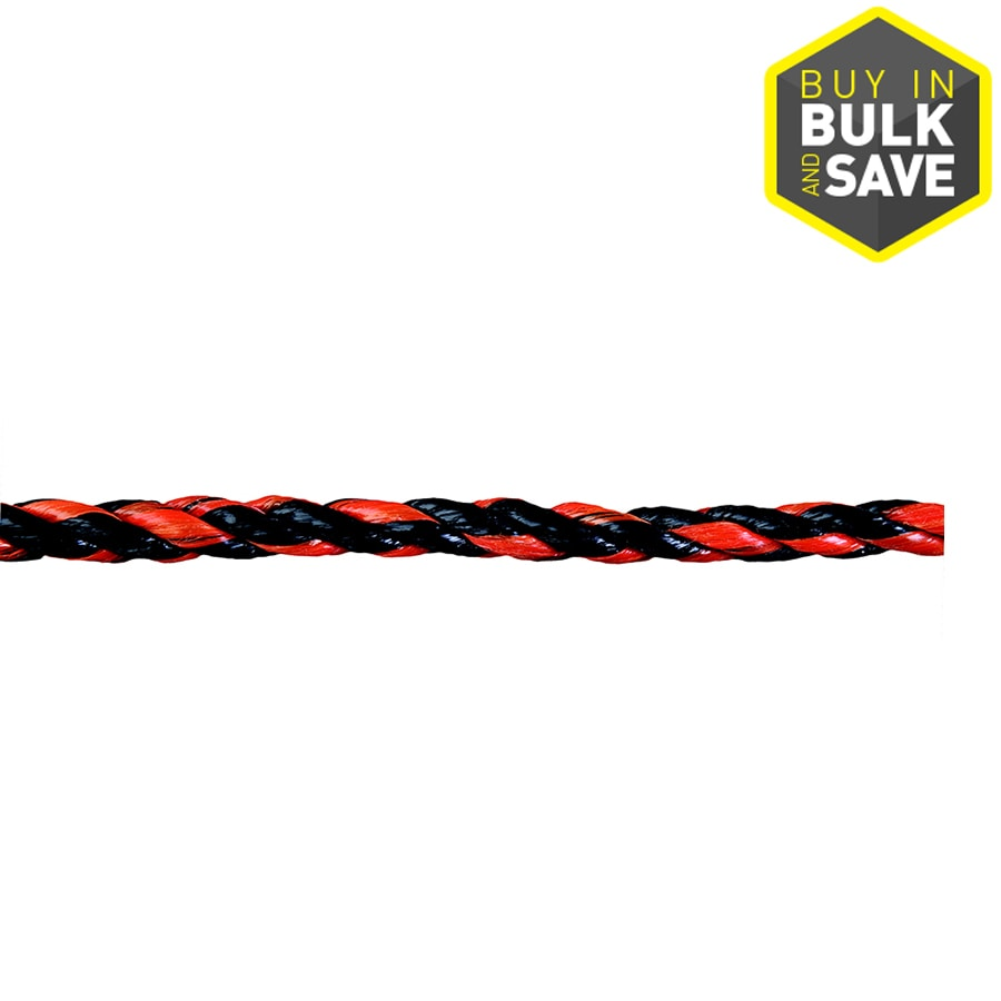 Blue Hawk 0.375-in Twisted Polypropylene Rope (By-the-Foot)